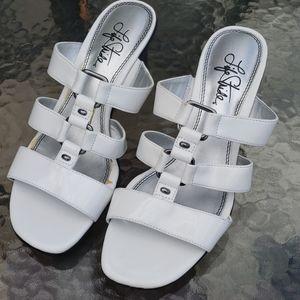 Women's LifeStride white strappy heels- Sz 7